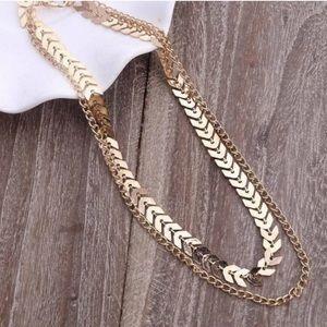Jewelry - Zoey Chevron Dainty Gold Choker